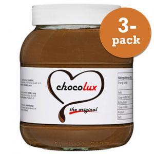 Choklad & Hasselnötscreme 3x350g Chocolux