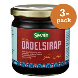 Dadelsirap 3x450ml Sevan