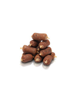 HUNDGODIS FINEST SALMON & PARSLEY SMALL SAUSAGES 10x20ST ESSENTIAL FOODS