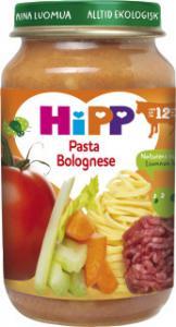 Barnmat 12-17 Mån Pasta Bolognese Eko 6x220g Hipp