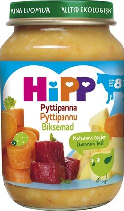Barnmat 8-11mån Pyttipanna Eko 6x190g Hipp