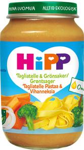 Barnmat 8-11mån Tagliatelle & Grönsaker Eko 6x190g Hipp