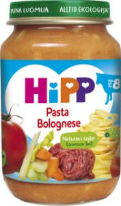 Barnmat 8-11 Mån Pasta Bolognese Eko 6x190g Hipp