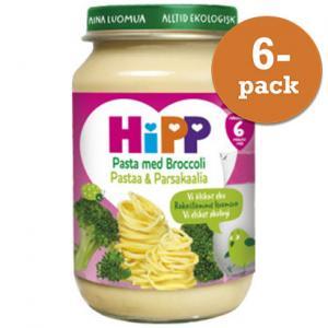 Barnmat 5-7 Mån Pasta/Broccoli Eko 6x190g Hipp