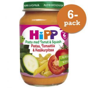Barnmat 5-7 Mån Pasta/Tomat/Squash Eko 6x190g Hipp
