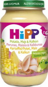 Barnmat 5-7 Mån Potatis/Majs/Kalkon Eko 6x190g Hipp
