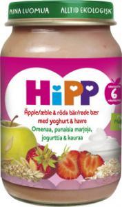 Barnmat 5-7 Mån Röda Bär/Äpple/Yoghurt Eko 6x160g Hipp