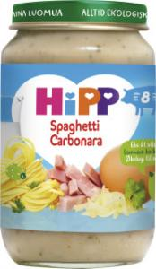 Barnmat 8-11 Månspaghetti Carbonara Eko 1x190g Hipp