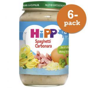 Barnmat 8-11 Mån Spaghetti Carbonara Eko 6x190g Hipp