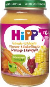Grönsaks/Kalvgryta Eko Barnmat 5-7 Mån 1x190g Hipp KORT HÅLLBARHET