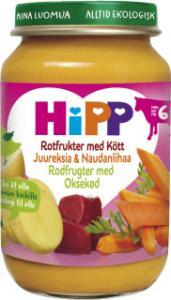 Barnmat 5-7 Mån Rotfrukter/Kött Eko 6x190g Hipp