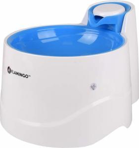 Vattenfontän katt/hund bellagio 2L blå Flamingo