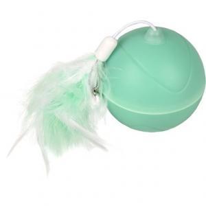 Kattleksak Aktivitetskula magicball LED lampa grön Flamingo