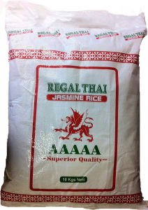 1st jasminris från Regal Thai om 10kg vardera billigt hos Kolonialvaror. Alltid bra pris på skafferivaror i storpack. Perfekt för catering storhushåll restaurang och café. Vi levererar till hela Sverige!