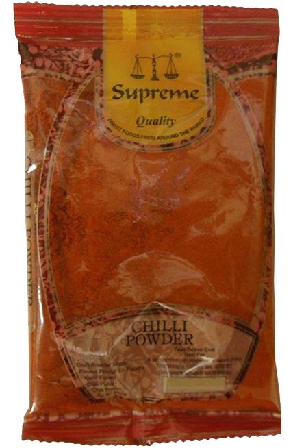 10st chilipulver mild från Supreme om 400g vardera billigt hos Kolonialvaror. Alltid bra pris på skafferivaror i storpack. Perfekt för catering storhushåll restaurang och café. Vi levererar till hela Sverige!