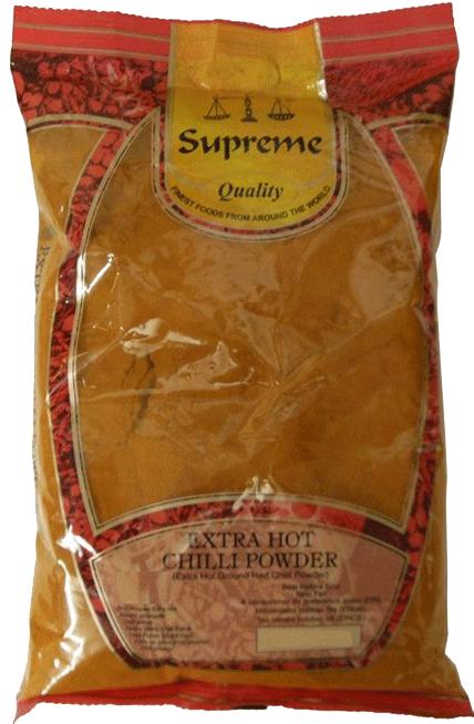 10st chilipulver stark från Supreme om 400g vardera billigt hos Kolonialvaror. Alltid bra pris på skafferivaror i storpack. Perfekt för catering storhushåll restaurang och café. Vi levererar till hela Sverige!