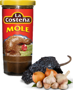 12st Röd Mole sås från La Costena om 235g billigt hos Kolonialvaror. Alltid bra pris på skafferivaror i storpack. Perfekt för catering storhushåll restaurang och café. Vi levererar till hela Sverige!
