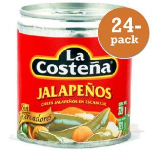 Jalapeños Hela 24x220g La Costeña