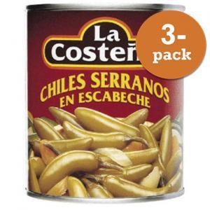 Serrano Chili 3x200g La Costeña