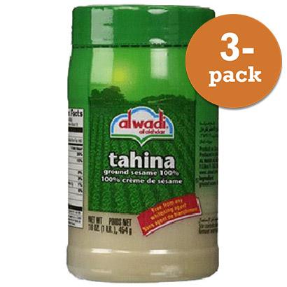 Sesampasta Tahina Från Al Wadi Här I Förpackning Om 3x454g