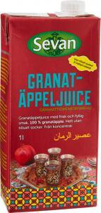 Tetrapak med granatäppeljuice