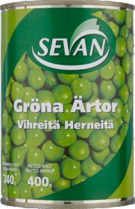 Konservburk från Sevan med gröna ärtor 400g