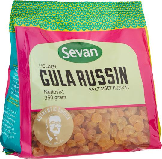 Gula russin i papperspåse