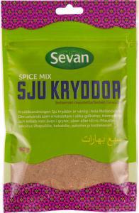 kryddblandning sju kryddor från Sevan.