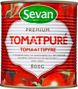 Tomatpure från sevan i konservburk på 800g
