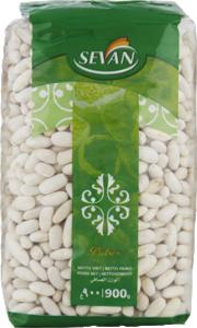 Långa vita bönor från sevan i 900g påse