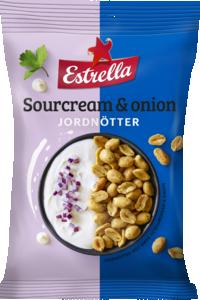 JORDNÖTTER SOURCREAM & ONION 12x180g ESTRELLA