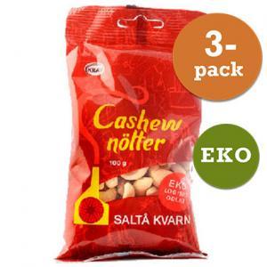Cashewnötter 3x100g Saltå Kvarn