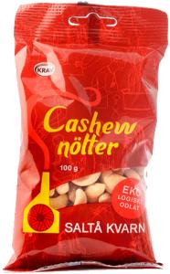 12st cashewnötter från Saltå Kvarn om 100g billigt hos Kolonialvaror. Alltid bra pris på skafferivaror i storpack. Perfekt för catering storhushåll restaurang och café. Vi levererar till hela Sverige!