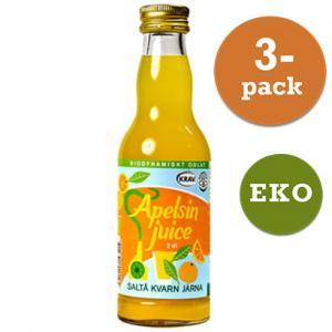 Apelsinjuice Eko 3x200ml Saltå Kvarn