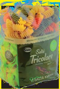 Ekologisk pasta skruvar tricolore från Saltå Kvarn i 2 stora förpackningar om 5kg totalt 10kg billigt hos Kolonialvaror. Alltid bra pris på skafferivaror i storpack. Perfekt för catering storhushåll restaurang och café. Vi levererar till hela Sverige!