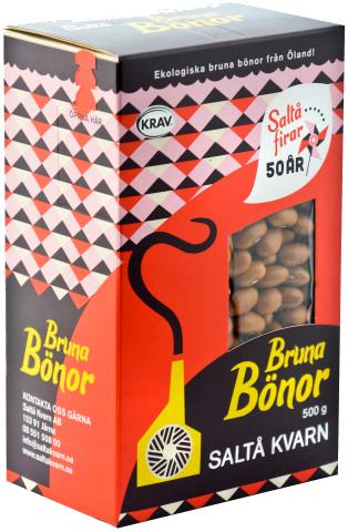 Ekologiska bruna bönor från Saltå Kvarn i 4 stora förpackningar om 2.5kg för totalt 10kg billigt hos Kolonialvaror. Alltid bra pris på skafferivaror i storpack. Perfekt för catering, storhushåll, restaurang och café. Vi levererar till hela Sverige!
