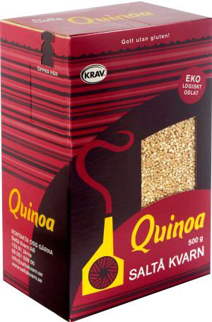 Ekologisk quinoa från Saltå Kvarn i 4 stora förpackningar om 2.5kg totalt 10kg billigt hos Kolonialvaror. Alltid bra pris på skafferivaror i storpack. Perfekt för catering storhushåll restaurang och café. Vi levererar till hela Sverige!