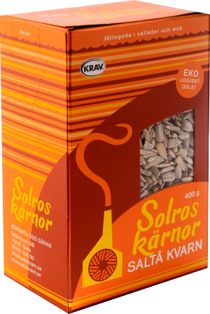 Ekologiska solroskärnor från Saltå Kvarn i 4 stora förpackningar om 2.5kg totalt 10kg billigt hos Kolonialvaror. Alltid bra pris på skafferivaror i storpack. Perfekt för catering storhushåll restaurang och café. Vi levererar till hela Sverige!