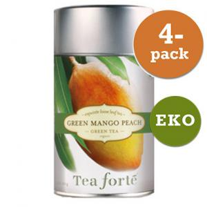 Grönt Te Green Mango Peach, Eko 4x100g Tea Forté