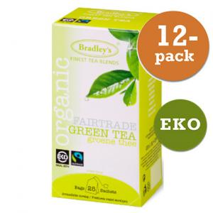 Grönt Te Eko / Fairtrade 12x25st Bradley´S