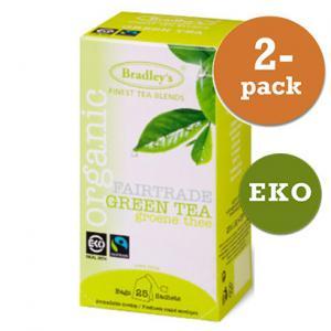 Grönt Te Eko / Fairtrade 2x25st Bradley´S