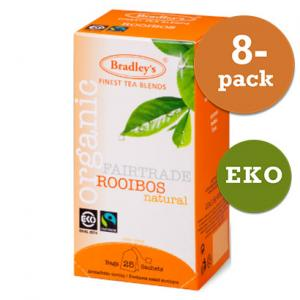 Rooibos Tepåsar Eko Fairtrade 8x25st Bradley´S