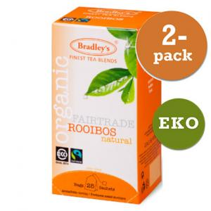 Rooibos Tepåsar Eko Fairtrade 2x25st Bradley´S