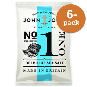 Chips Deep Blue Sea Salt John & John Crisps 6x40g