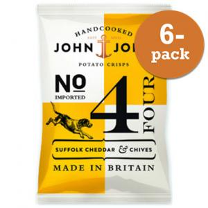 Chips Suffolk Cheddar & Chives John & John Crisps 6x40g