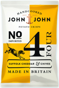 24st suffolk cheddar chives chips från John John om 40g billigt hos Kolonialvaror. Alltid bra pris på skafferivaror i storpack. Perfekt för catering storhushåll restaurang och café. Vi levererar till hela Sverige!