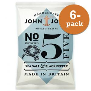 Chips Sea Salt & Black Pepper John & John Crisps 6x40g