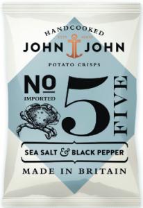 24st sea salt chips från John John om 40g billigt hos Kolonialvaror. Alltid bra pris på skafferivaror i storpack. Perfekt för catering storhushåll restaurang och café. Vi levererar till hela Sverige!