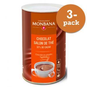 Chokladpulver Monbana Chocolaterie 3x1kg