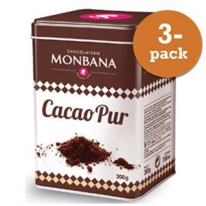 Kakaopulver Monbana Chocolaterie 3x200g